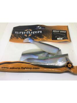 SAKURA BELLY SHAD NATURAL GREEN 100