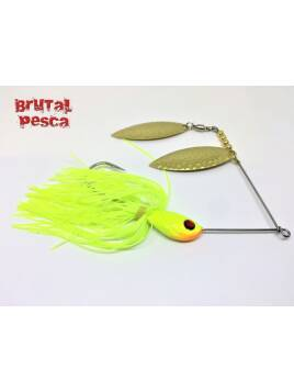 SPINNERBAITS BRUTAL CHARTREUSE GOLD 1/2 Oz