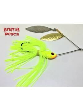SPINNERBAITS BRUTAL CHARTREUSE GOLD SILVER 3/4 Oz