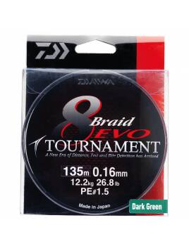 DAIWA TOURNAMENT 8 BRAID EVO 0.14 MM